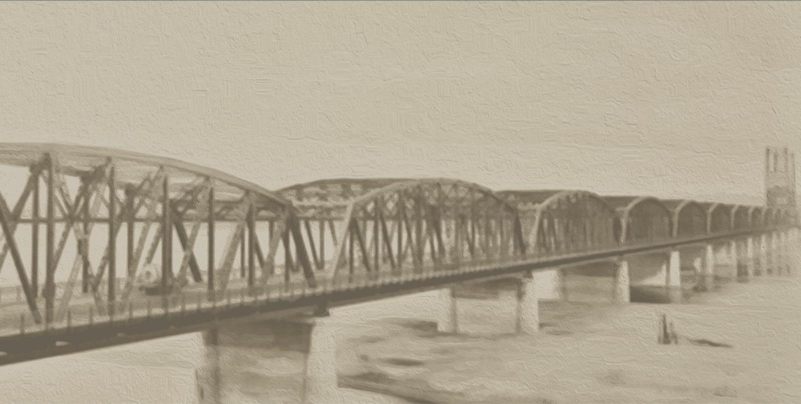 historical image of vancouver bridge